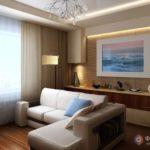 дизайн бежевой квартиры в классическом оформлении