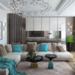 дизайн бирюзовой квартиры