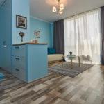 дизайн голубой квартиры