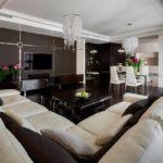 дизайн коричневой квартиры