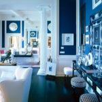 дизайн синей квартиры