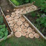 Деревянные дорожки для сада