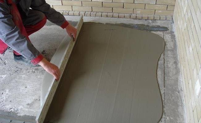 Как правильно сделать бетонную стяжку по маякам