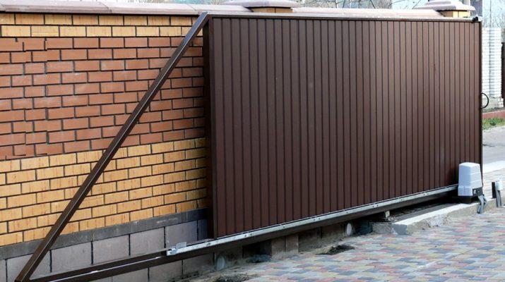 Откатные ворота — ворота для дачи, дома и промышленных объектов