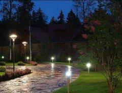 Планировка освещения двора и участка