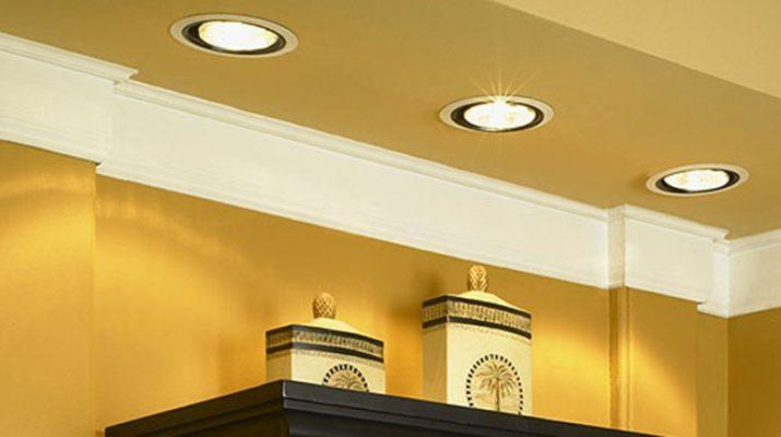 Потолочные встроенные светодиодные светильники