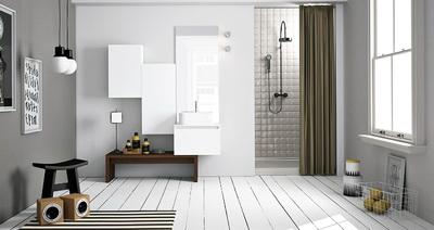 Скандинавский шарм и безукоризненность в ванной комнате
