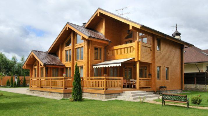 Современный деревянный каркасный дом