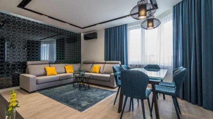 Современный дизайн квартиры 105 м²
