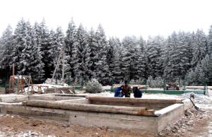 Строительные работы в зимнее время