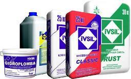 Сухие строительные смеси IVSIL для устройства стяжки