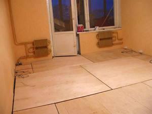 Укладка фанеры на деревянный пол под ламинат