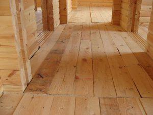 Устройство полов в деревянном доме