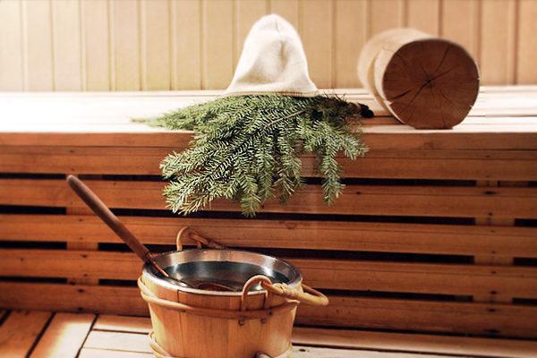 Деревянная баня на даче