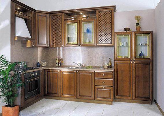 Кухни из дерева - природная красота и комфорт
