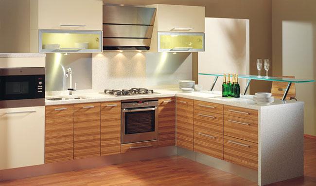 Кухни из шпона - экологичны и элегантны