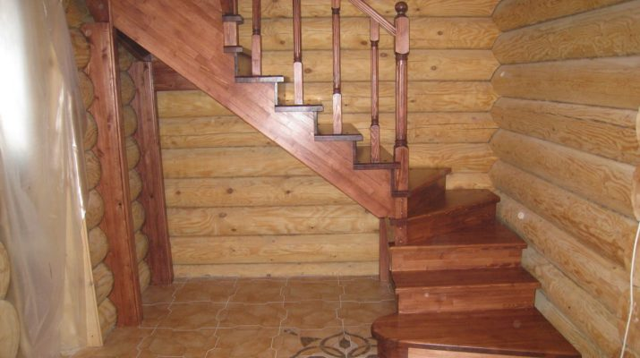 Монтаж классической межэтажной модульной лестницы
