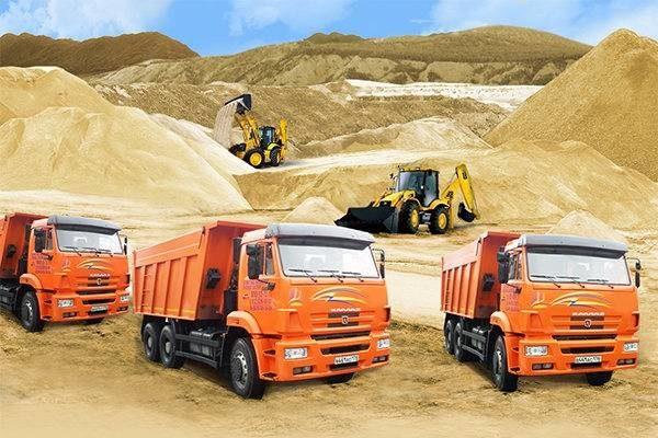 О строительстве дома и об организации доставки песка