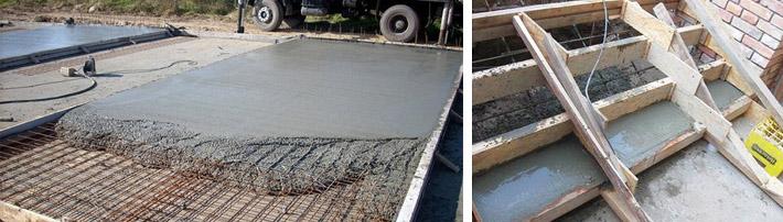 Основные сферы применения бетона М200