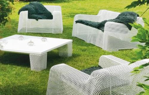Садовая мебель из искусственных и натуральных материалов