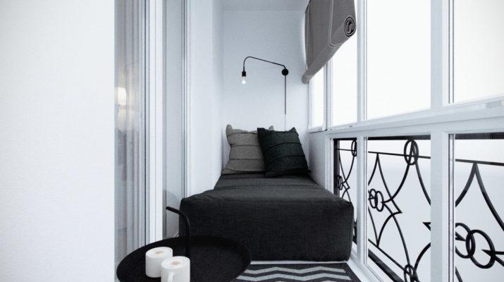 Стильный дизайн на маленьком балконе
