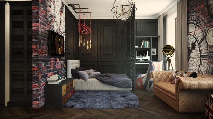 Лондон в миниатюре потрясающие апартаменты в британском стиле на 32 кв м