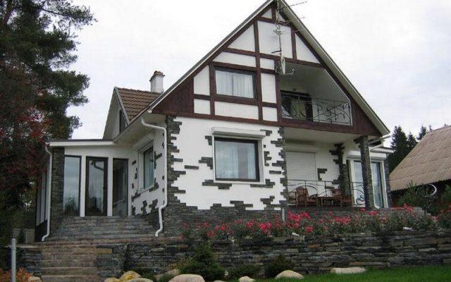 Применение натурального камня для отделки фасада