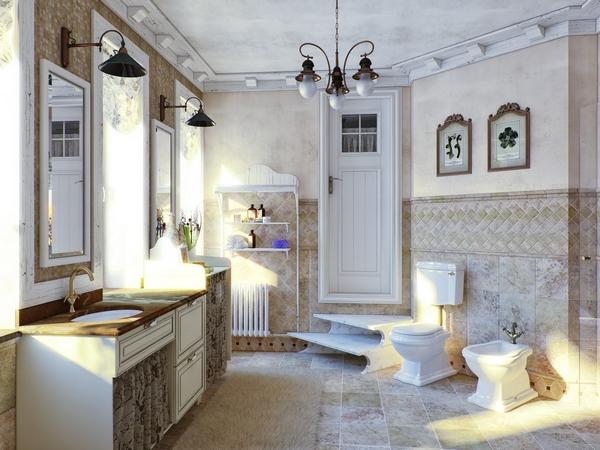 Ванная Комната В Стиле Прованс: Особенности Дизайна, Мебель inside 83 Удивительно Ванная Комната В Стиле Прованс - Gookil