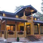 Шикарный дом из оцилиндрованного бревна