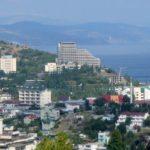 Крым, Симферополь, Алушта на экране телевизора