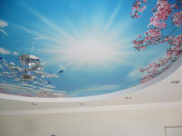 Натяжные Потолки С Рисунком Неба pertaining to Натяжные Потолки С Рисунком Фото - Gooxog