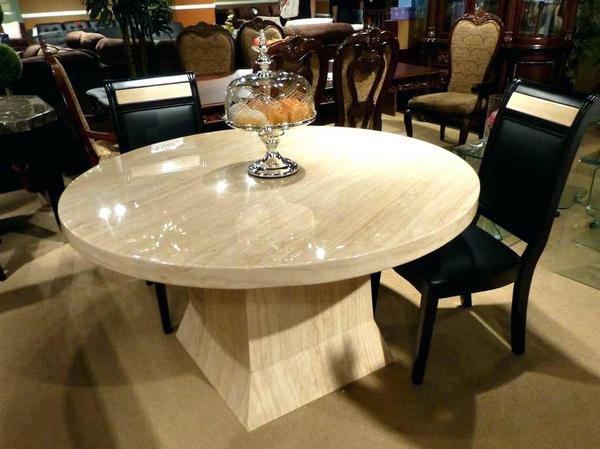 Кругый стол из искусственного камня