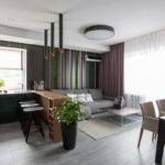 Современный комфорт в квартире со студийной планировкой