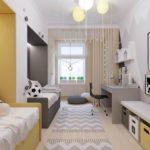 Оформление комнаты для двух детей разных полов