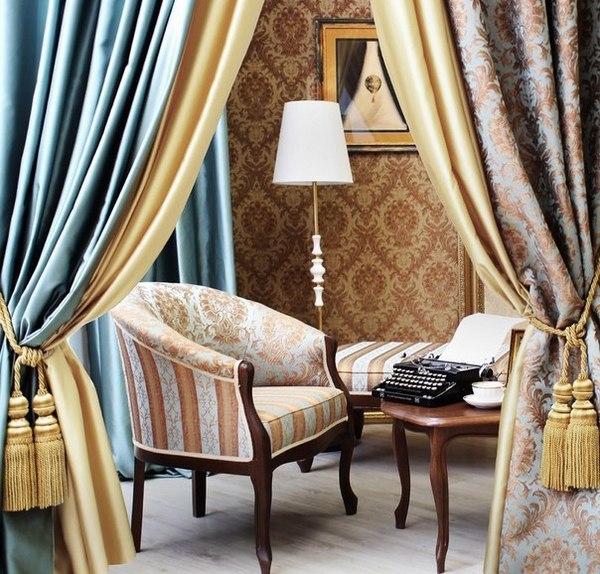 Текстиль Эспокада в интерьере гостиной